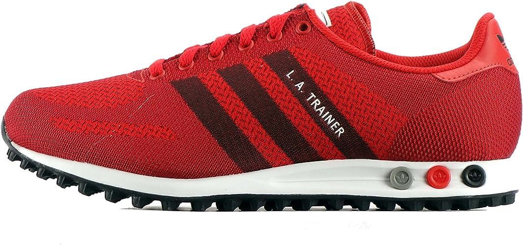 adidas La Trainer Weave, Baskets Mode pour Homme Rouge Rouge