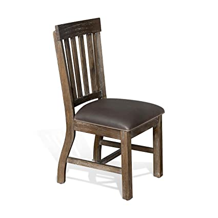 Amazon.com - Sunny Designs Reno Dining Chair with Dark Taupe ...