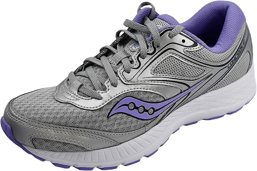 Saucony Womens Versafoam Cohesion 12 Road Running Shoe, Silver ...