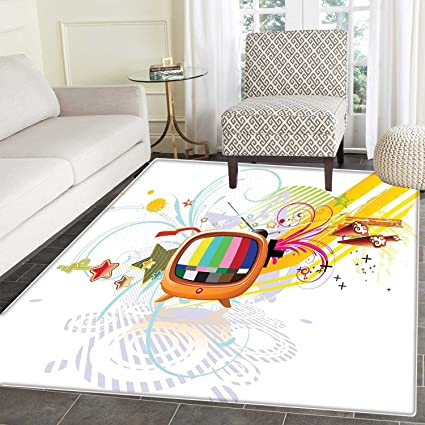 Amazon Com Modern Rugs For Bedroom Digital Image Television Media