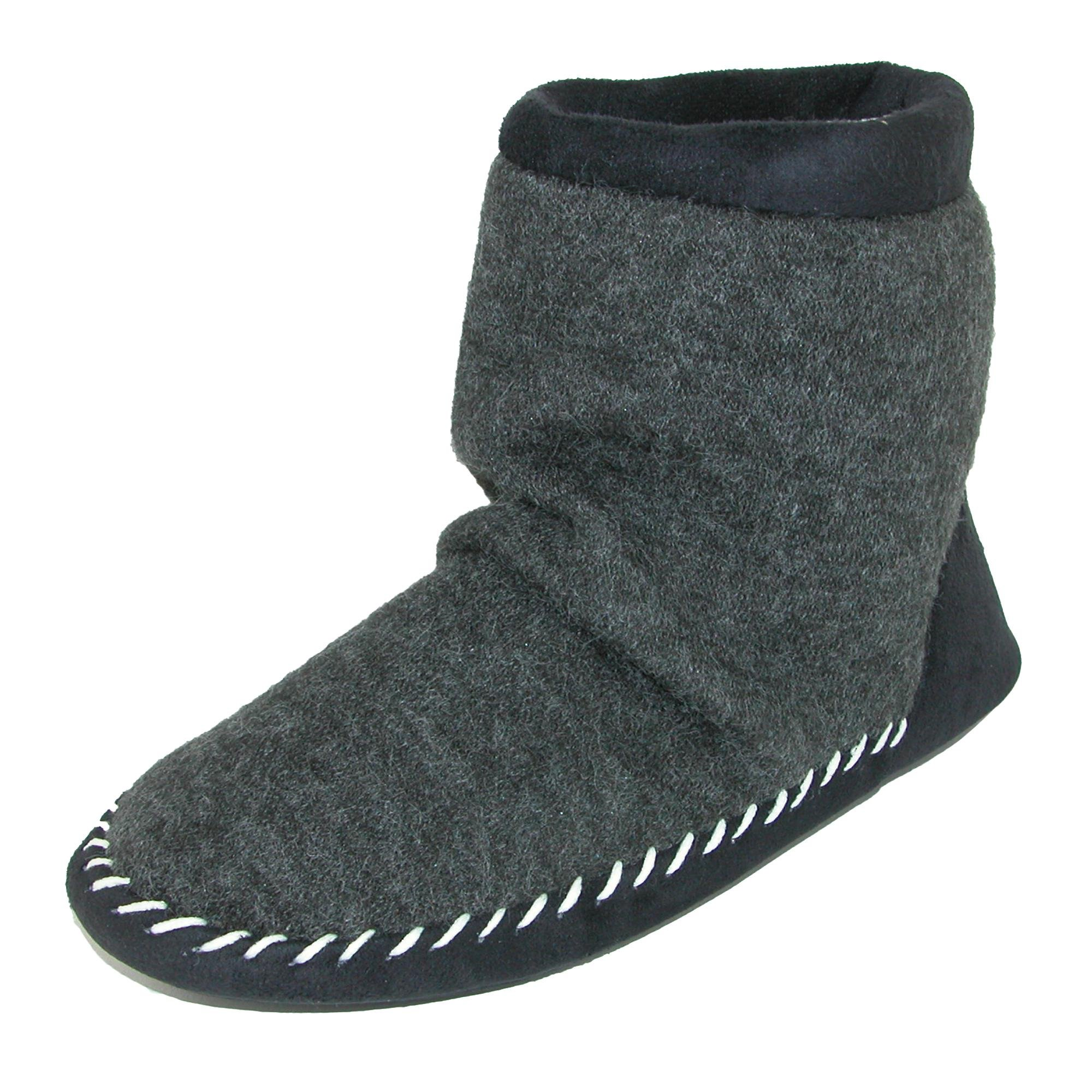 ISOTONER Women's Microsuede & Heather Knit Marisol Boot Black Medium 6.5-7.5