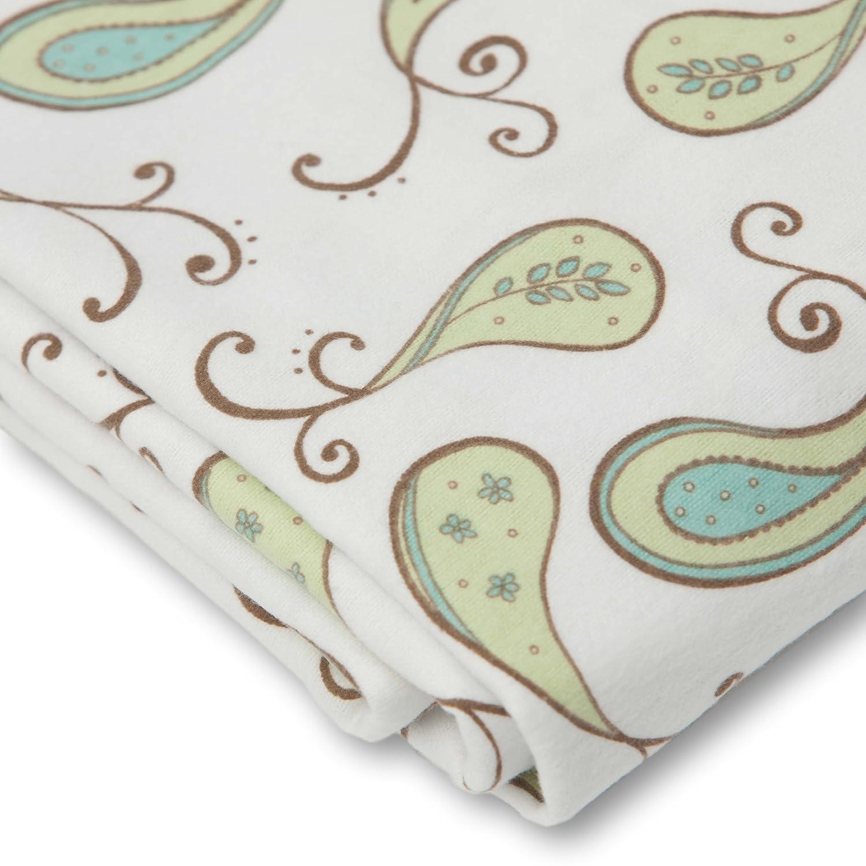 Kiwi Paisley SD-155KW Made in USA Premium Cotton Flannel SwaddleDesigns Cotton Crib Sheet