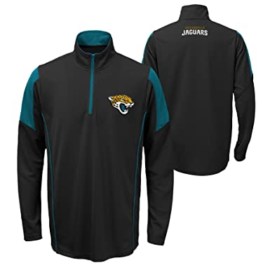 e902cc7abf838f Jacksonville Jaguars NFL Team Apparel Youth Lightweight 1/4-Zip Jacket  (Youth Large