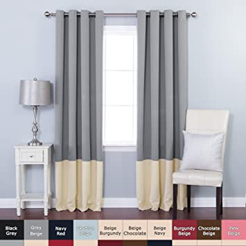 Curtains Ideas colorblock curtains : Amazon.com: Best Home Fashion Colorblock Thermal Insulated ...
