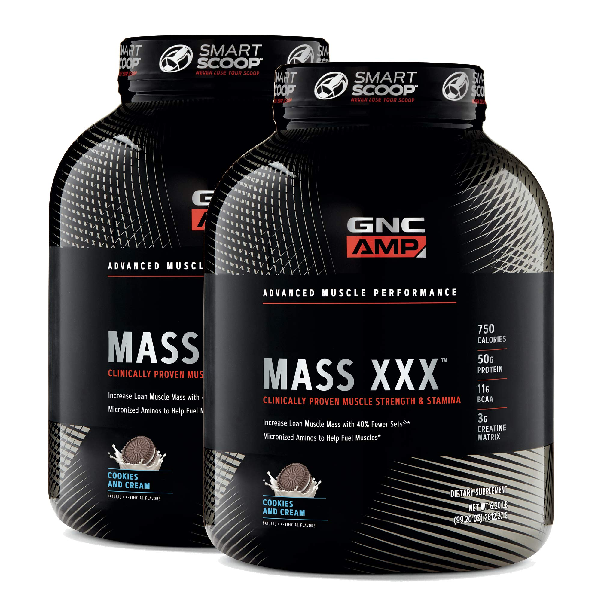 GNC AMP Mass XXX - Cookies and Cream - Twin Pack