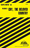 CliffsNotes on Paton's Cry, the Beloved Country (Cliffsnotes Literature Guides)