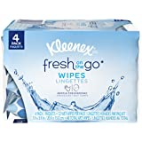 Kleenex Fresh On-the-Go Moist Wipes, 4 Resealable Packs