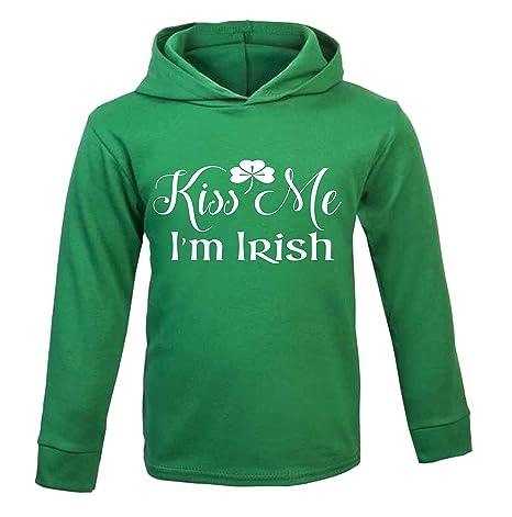 Kiss Me Im Irish Sudadera con capucha para niños del día de San Patricio