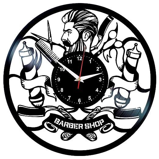 EVEVO Barber Shop - Reloj de Pared, diseño de barbería ...