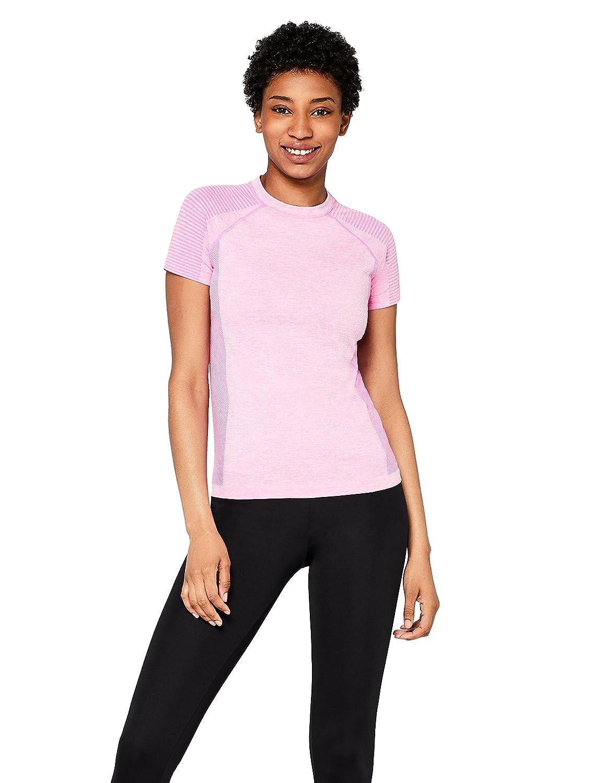 TALLA 40 (Talla del Fabricante: Medium). Marca Amazon - AURIQUE Camiseta Deportiva sin Costuras Mujer