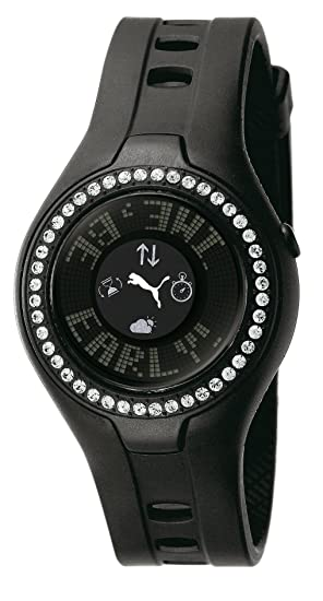 3abea586d Puma PU910222002 - Reloj digital de cuarzo para mujer con correa de caucho
