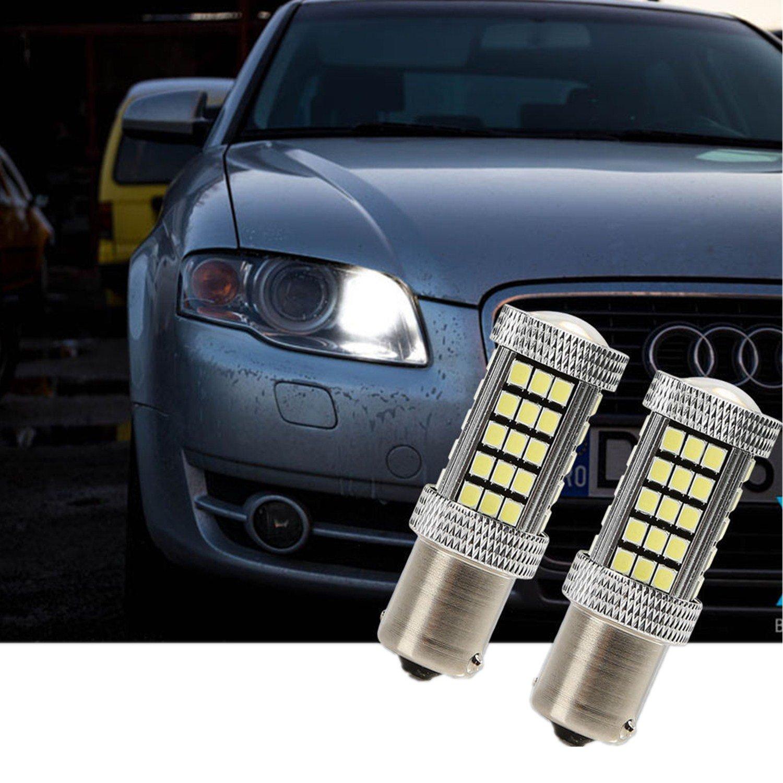 FEZZ Auto LED Ampoules S25 BA15S 1156 2835 66SMD CANBUS DRL Feux de Jour
