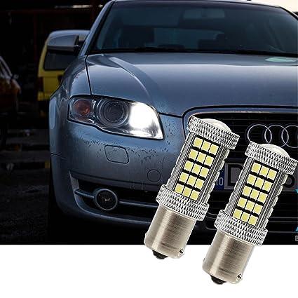Fezz Bombillas LED Coche Luz Diurna Drl S25 Ba15S 1156 2835 66Smd Canbus: Amazon.es: Coche y moto