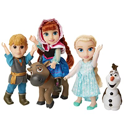 Disney Frozen Deluxe Petite Doll Gift Set - Includes Anna, Elsa, Kristoff, Sven and Olaf! Dolls are approximately 6 inches tall - Perfect for any Frozen fan!: Toys & Games [5Bkhe0501153]