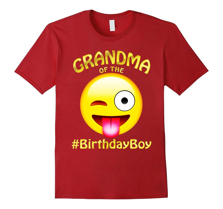 Grandma Of The Birthday Boy Emoji T-Shirt Gift