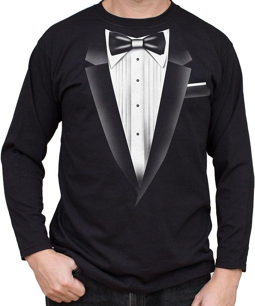NUEVO - SMOKING TUX - Camisetas Negro Hombre - T-Shirt Manga Larga - Calidad Superior Tuxedo Regalo (XXX-Large): Amazon.es: Ropa y accesorios