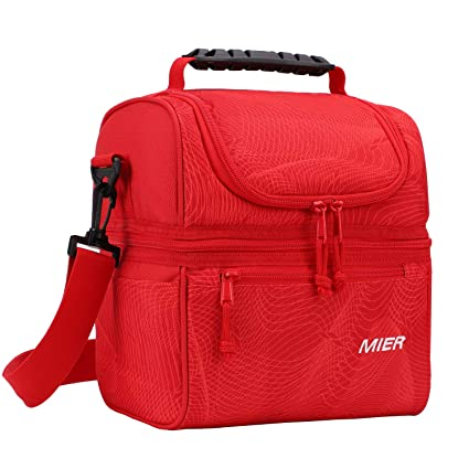 dc314cbe97eb Image Unavailable. Image not available for. Color  MIER 2 Compartment Lunch  Bag for Men Women