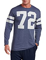 Reebok Big & Tall 72 Long-Sleeve Mesh Heather Tee