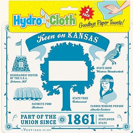 Amazon Com Fiddler S Elbow Keen On Kansas Hydro Cloth Eco Friendly Sponge Cloths Reusable Swedish Dish Cloths Set Of 2 Printed Sponge Cloths Replaces 30 Rolls Of Paper Towels Home Kitchen