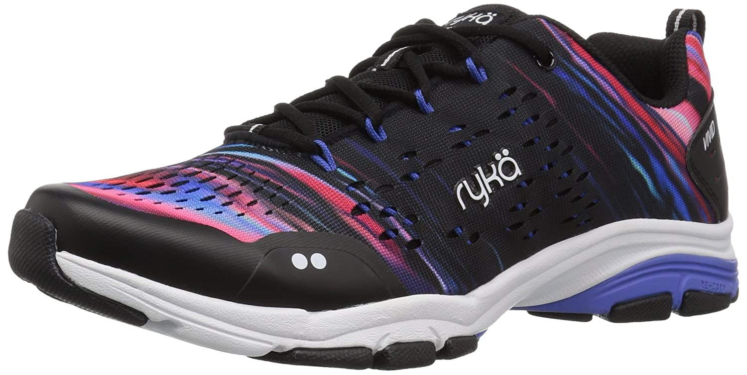 Ryka Women's Vivid RZX Cross Trainer B07C8FB9G9 10 W US|Black/Multi
