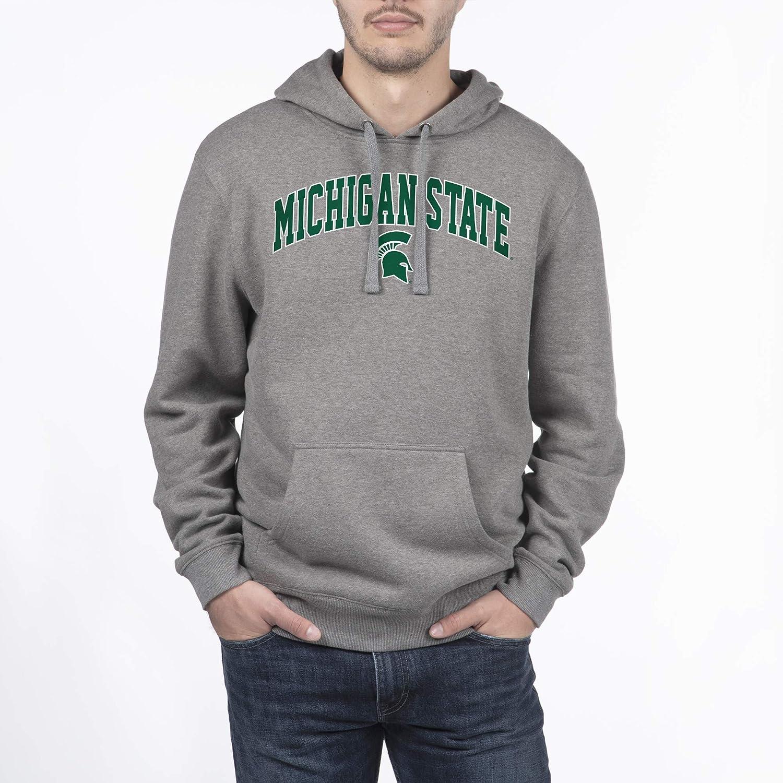 Dark Heather Small NCAA Michigan State Spartans Mens Hoodie Sweatshirt Dark Charcoal Gray