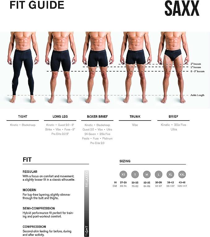 Red Chopsticks Saxx Mens Platinum Fly Boxer Briefs Sports Underwear