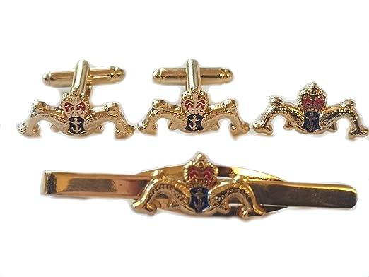 6a398e695937 Royal Navy Submariners Cufflinks, Lapel Badge & Tie Clip Gift Set: Amazon.co .uk: Clothing