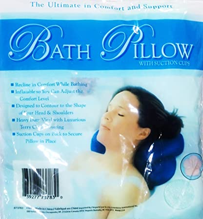 Bath pillow With suction Cup Colors vary