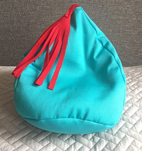 Doll Bean Bag Chair Girls Room Blue Soft Cotton Beanbag Dollhouse Furniture  Dolly Seating Barbie Bean