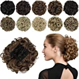 ROSEBUD Chignon Hairpiece Curly Bun Extensions Scrunchie Updo Hair Pieces Synthetic Combs in Messy Bun Hair Piece for…