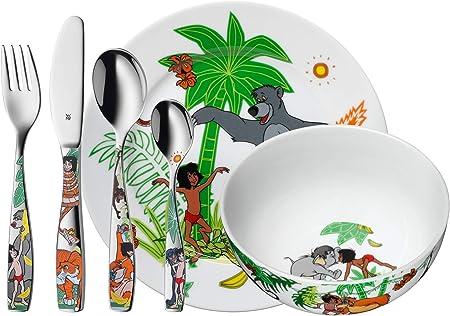 Oferta amazon: WMF Disney El Libro de la Selva - Vajilla para niños 6 piezas, incluye plato, cuenco y cubertería (tenedor, cuchillo de mesa, cuchara y cuchara pequeña) (WMF Kids infantil)