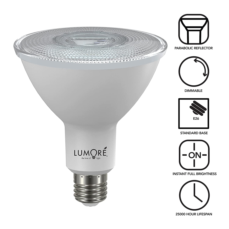 Par38 led bulb 14w 75w incandescent equivalent 900 lumen 2700k soft white glow narrow beam spotlight bulb 40 beam angle medium base e26