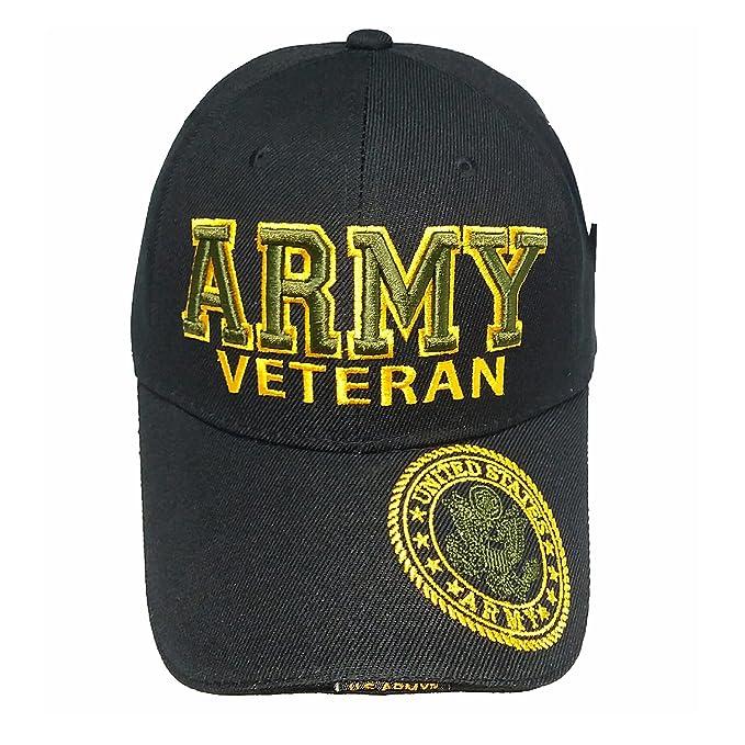 7894c97a3fd Army Gear U.S. Military U.S. ARMY VETERAN Black Hat Men s Baseball Cap Dad  Hat