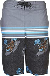 6dd0be494d TONY HAWK Boys Striped Palm Print Board Short Swim Trunk