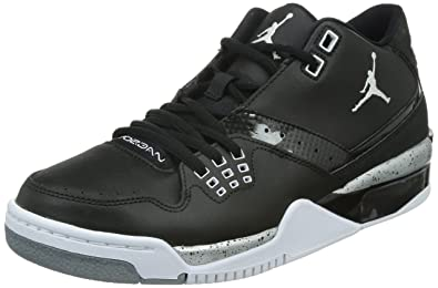 Jordan Nike Men's Flight23 BlackWhiteMetallic Silver Basketball Shoe 12 Men US
