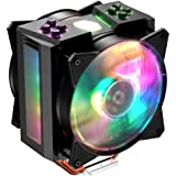 Cooler Master MasterAir MA410M 28 Addressable RGB LED Lighting CPU Air Cooler 4 Heat Pipes, Thermal Sensor, Dual Master MF120R Fans (MAM-T4PN-218PC-R1)