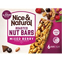 Nice & Natural Mixed Berry Roasted Nut Bars with Real Milk Chocolate, 192g