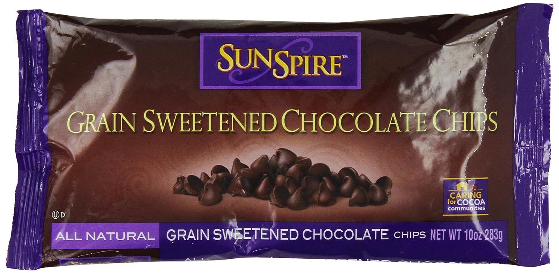 Amazon.com : SunSpire Grain-Sweetened Dark Chocolate Chips, 10 ...