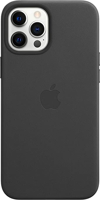 Apple Leather Case with MagSafe (for iPhone 12 Pro Max) - Black