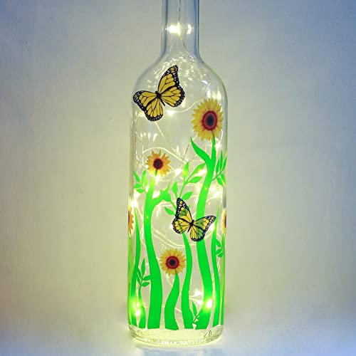 Light up sunflower gifts for her spring easter gifts yellow and light up sunflower gifts for her spring easter gifts yellow and green bottle light with fairy negle Choice Image
