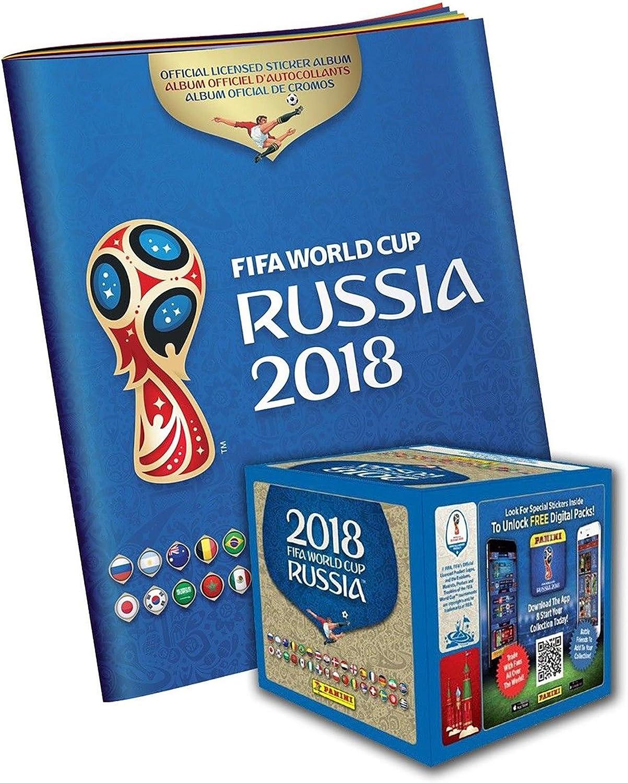 Sports Memorabilia Pack de 50 Pegatinas de fútbol de la FIFA World Cup 2018 Panini Rusia con Caja y álbum de Pegatinas – Fanatics Authentic Certificado: Amazon.es: Deportes y aire libre