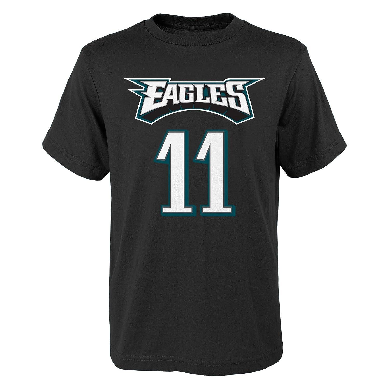 c8dc80a4880 Amazon.com   Carson Wentz Philadelphia Eagles  11 Youth Mainliner Player T- Shirt Black   Sports   Outdoors