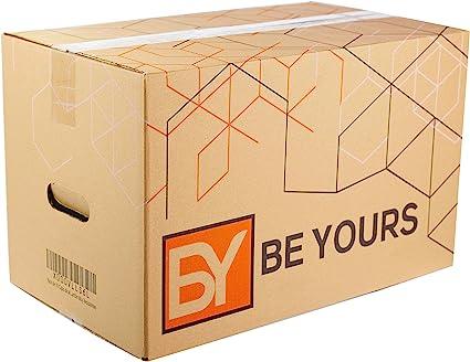 BEYOURS Packs de 20 y 10 Cajas Carton Mudanza Grandes con asas ...