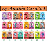 Mini tarjetas NFC Tag para ACNH New Horizons Animal Villagers Switch/Switch Lite/Wii U con funda de cristal