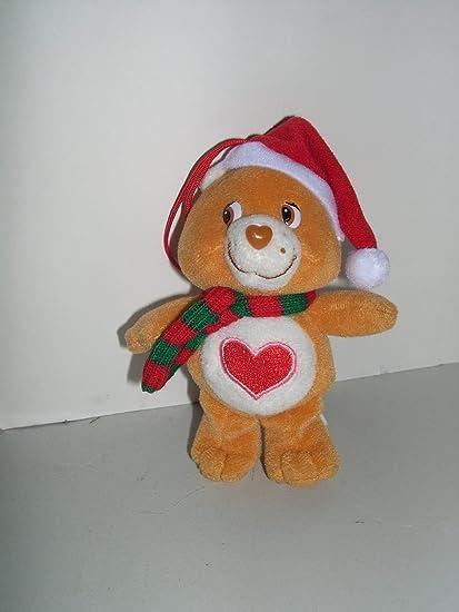Amazon Com 5 Care Bear Tender Heart Plush Christmas Tree Ornament Toys Games