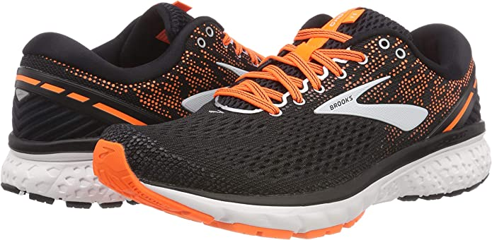 Brooks Ghost 11, Zapatillas de Running para Hombre, Multicolor (Black/Silver/Orange 093), 42 EU: Amazon.es: Zapatos y complementos