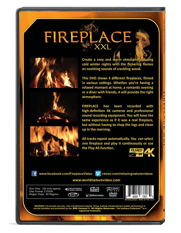 amazon com fireplace dvd fireplace xxl filmed in hd 2 dvd