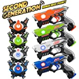 Kidpal Laser Tag, Laser Tag Gun with Vest Set 4 Pack for Family Fun, Lazer Tag Game Set with Gun for Kids Boy & Girl Toys Age