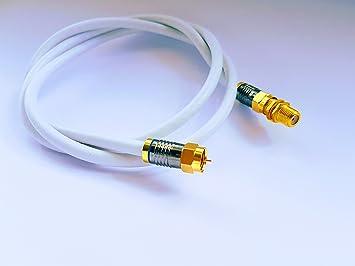 Sky Satellites Kit de cable de extensión coaxial RG6 TV, con conectores F para Sky