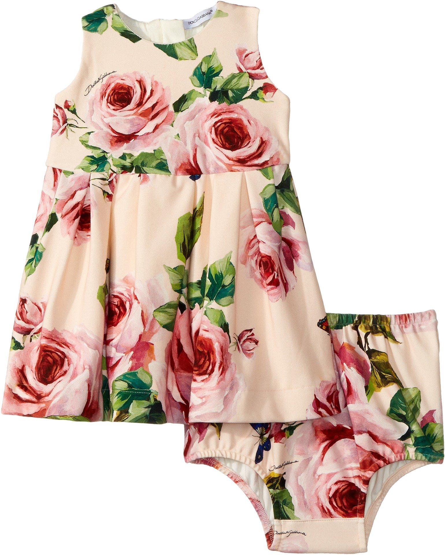 Dolce & Gabbana Kids Baby Girl's Sleeveless Dress Set (Infant) Rose Print 6-9